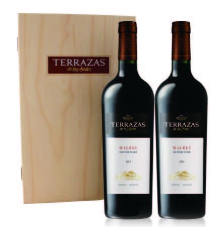 Terrazas台階雙瓶木製禮盒