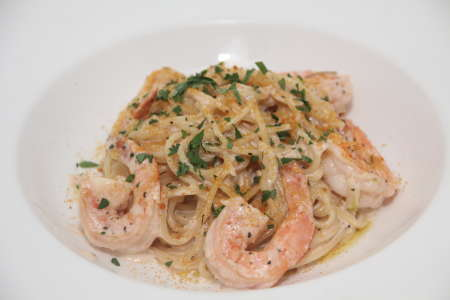 商午Creamy Shrimp spaghetti with Cod Roe (7)